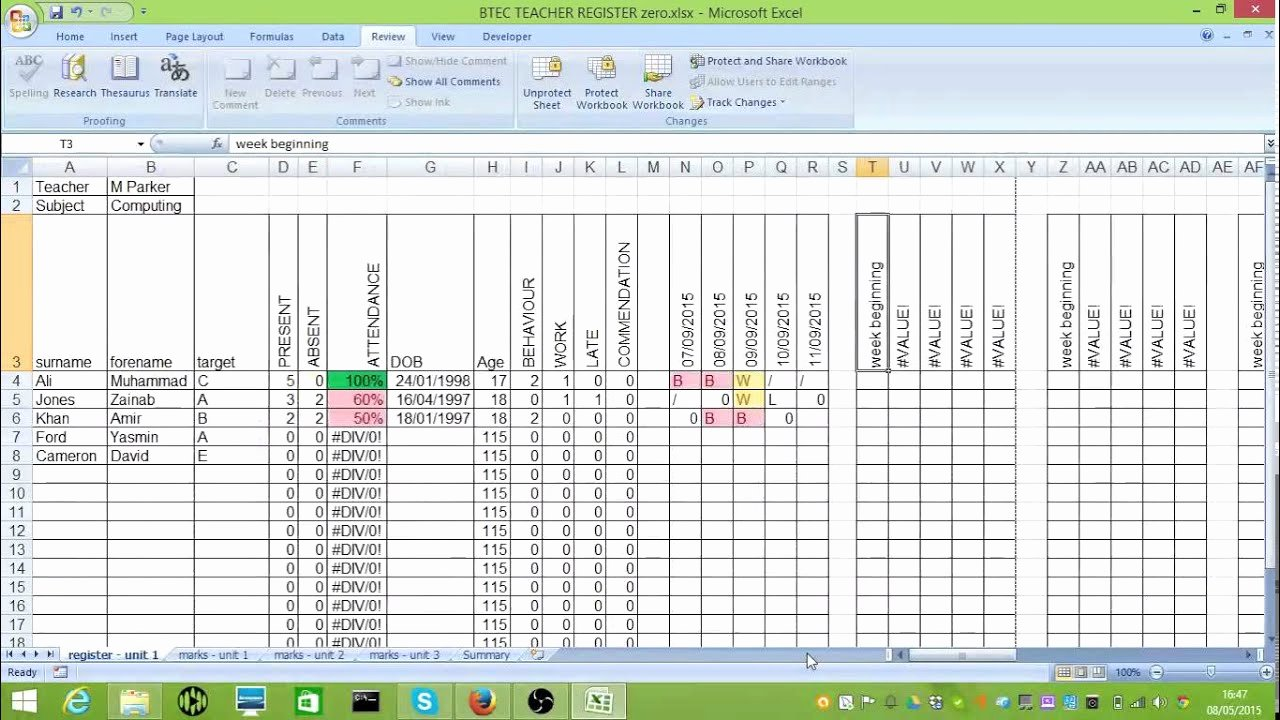 Student Data Tracking Template Beautiful Btec Tracking Spreadsheet
