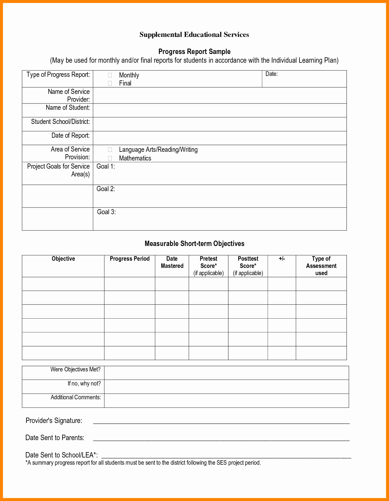 Student Progress Report Template Fresh School Project Report Template Templates Data