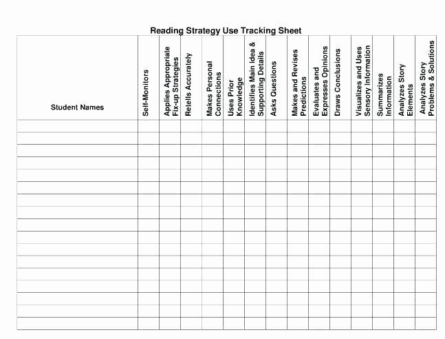 Student Tracking Sheet Template Elegant Student Tracking Sheet Template attendance Sheet E Excel