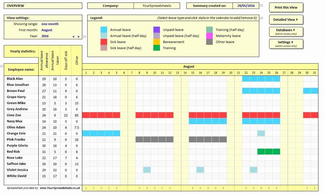 Student Tracking Sheet Template Lovely Employee attendance Tracker Spreadsheet