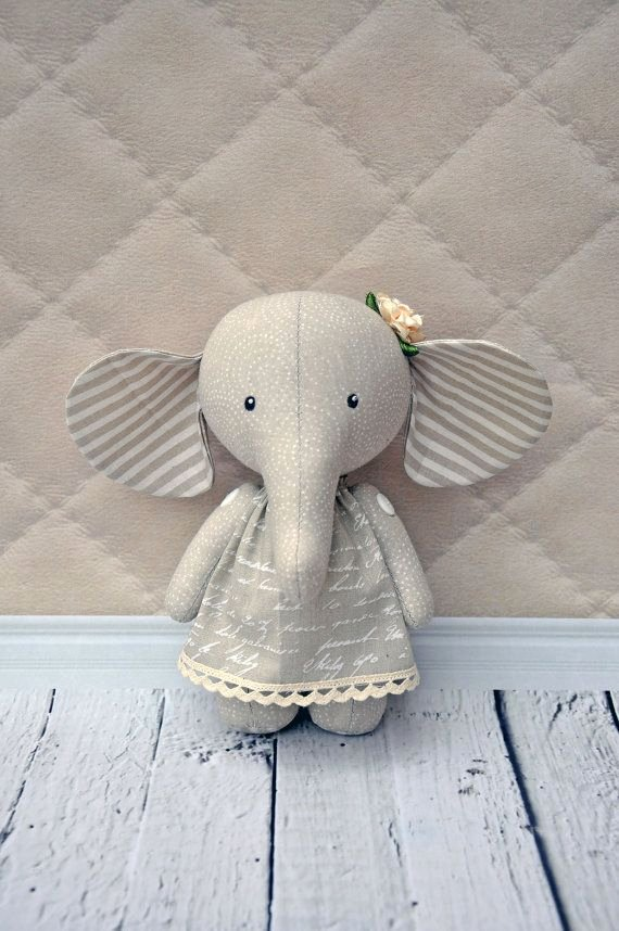 "Stuffed Elephant Pattern Template Elegant Elephant 9"" Pdf Pattern Pdf Plush Elephant Stuffed"