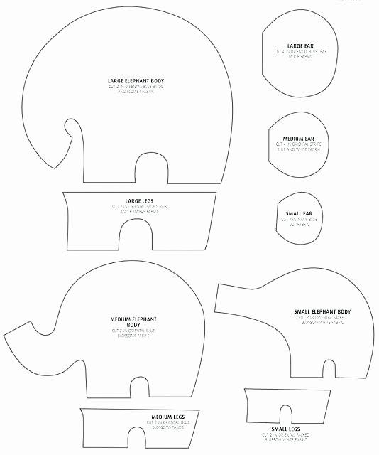 Stuffed Elephant Pattern Template Inspirational Elephant Pattern Template – Aplicativoo