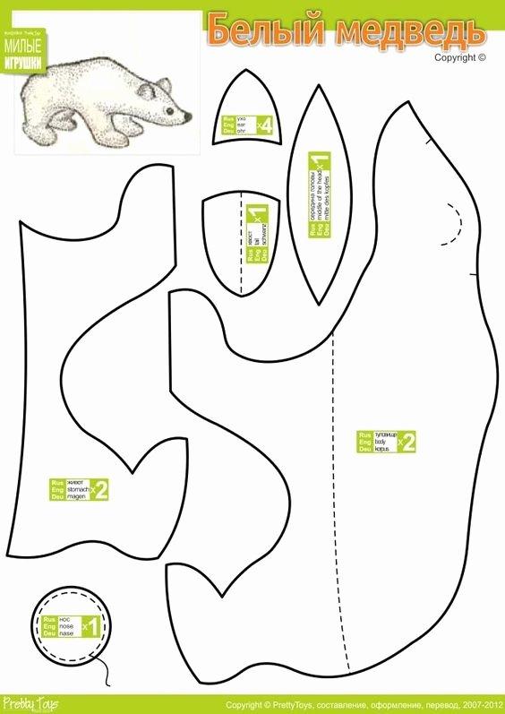 Stuffed Elephant Pattern Template Inspirational Stuffed Animal Patterns Animal Patterns and Polar Bears