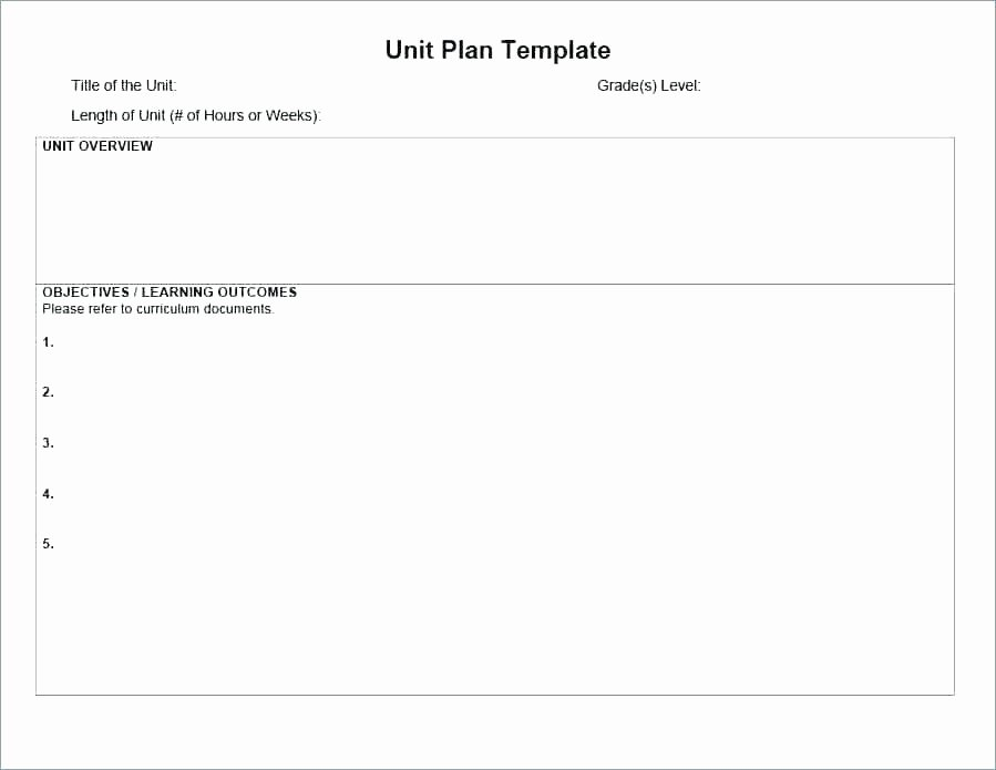 Sub Lesson Plan Template Fresh Weekly Lesson Plan Template 8 Free Word Excel format