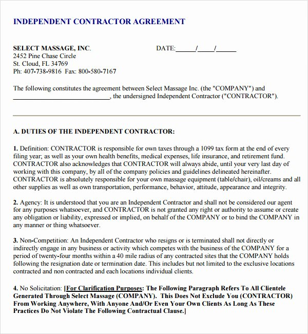 Subcontractor Agreement Template Free Unique Subcontractor Agreement 13 Free Pdf Doc Download