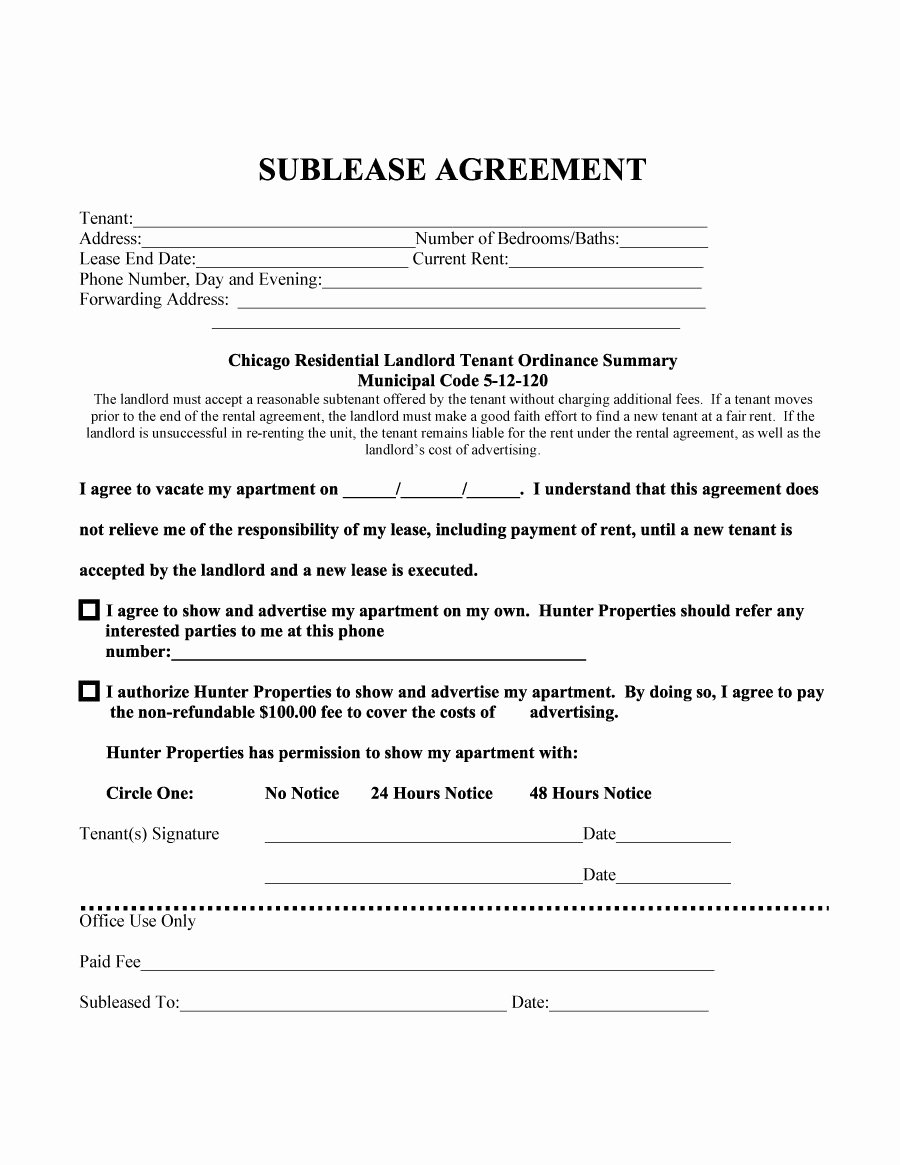 Sublease Agreement Template California Awesome Sublease Agreement Template 27 Template Lab