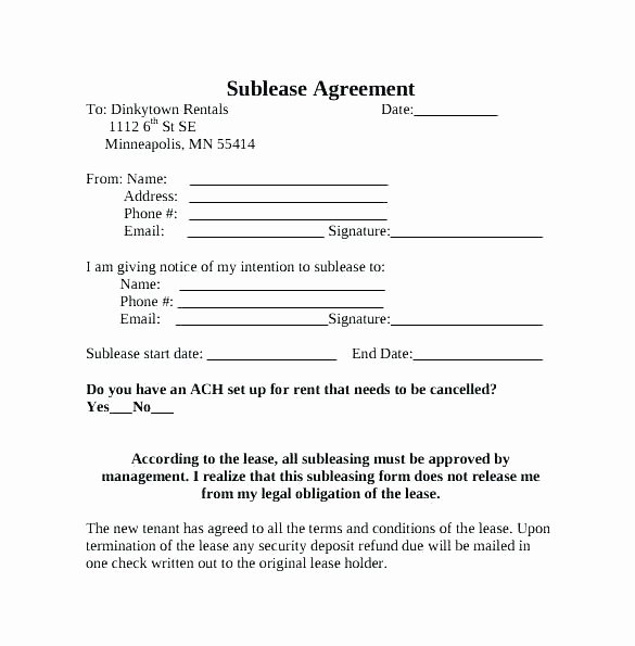 Sublease Agreement Template California Elegant Residential Sublease Agreement Template – Callatishighfo