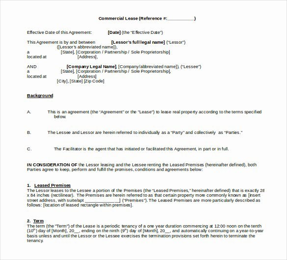 Sublease Agreement Template Word Elegant 15 Word Rental Agreement Templates Free Download