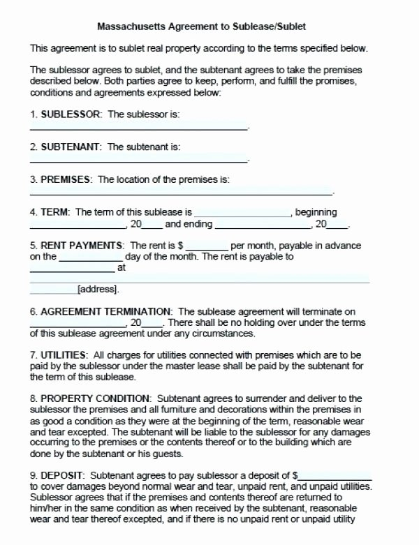 Sublease Agreement Template Word Luxury Furniture Rental Agreement Template Word – Cotizarsoat