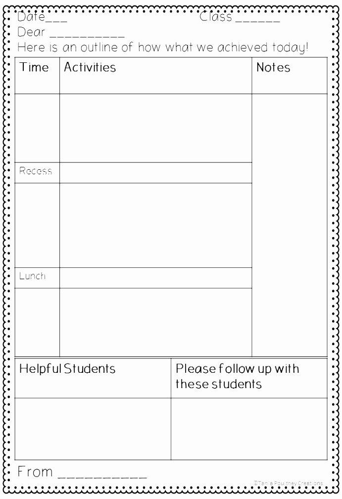 Substitute Teacher Plans Template Beautiful 10 Substitute Teacher Plans Template Ariea
