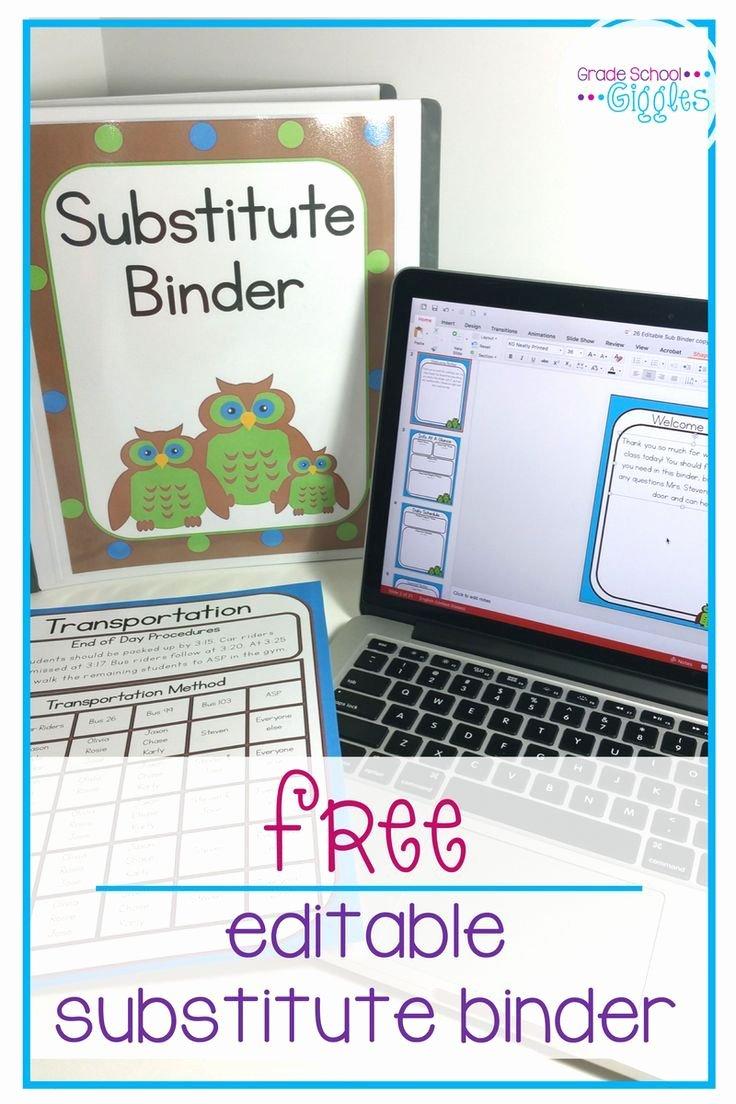 Substitute Teacher Plans Template Best Of 1000 Ideas About Sub Plans On Pinterest