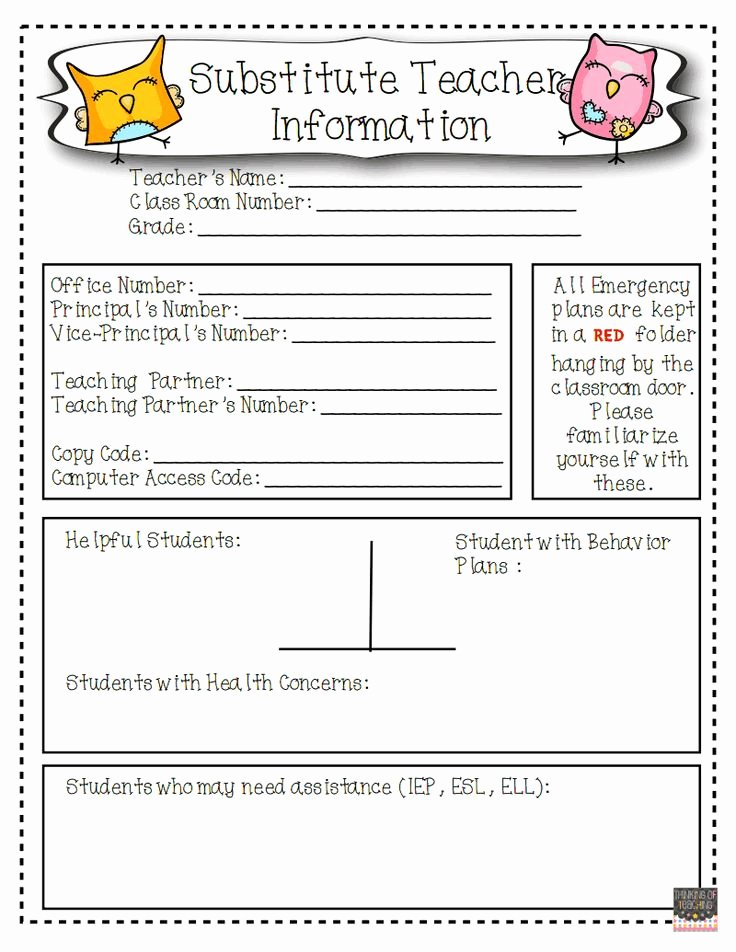 Substitute Teacher Plans Template Lovely 17 Best Images About Art Room Sub Plans On Pinterest