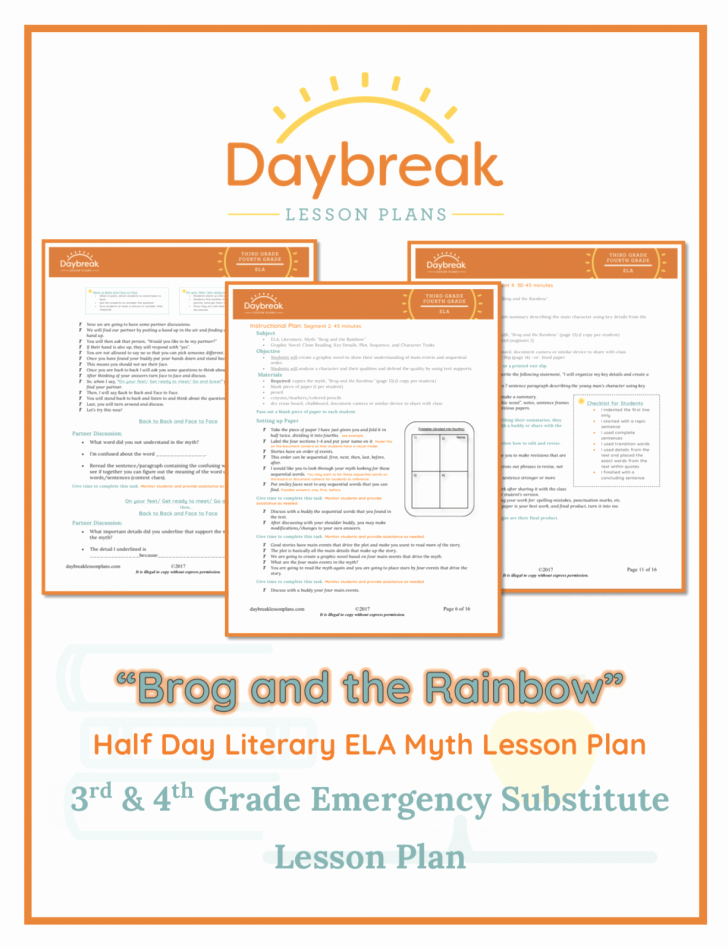 Substitute Teacher Plans Template New Substitute Lesson Plan Template High School – Substitute