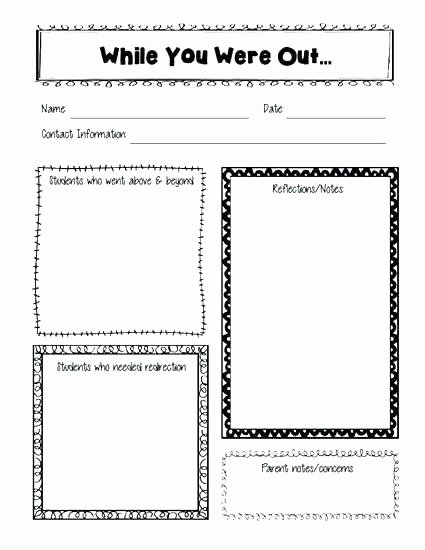Substitute Teacher Report Template Beautiful Presentation Feedback form Templates forms Best