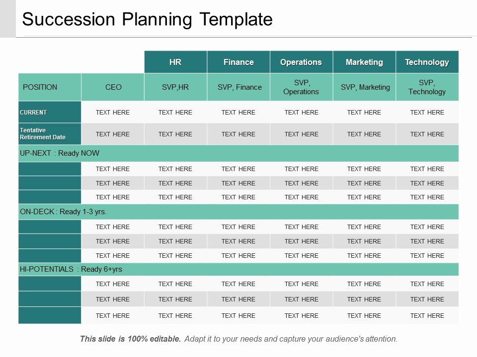 succession planning template ppt sample