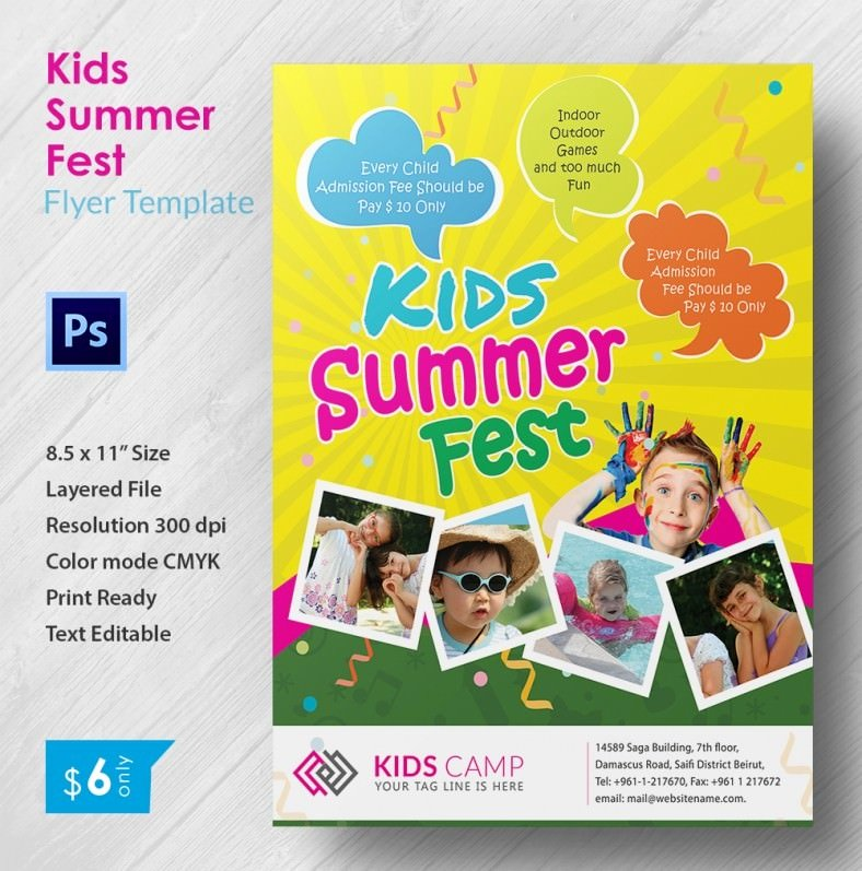 Summer Camp Flyer Template Awesome Summer Camp Flyer Templates – 47 Free Jpg Psd Esi