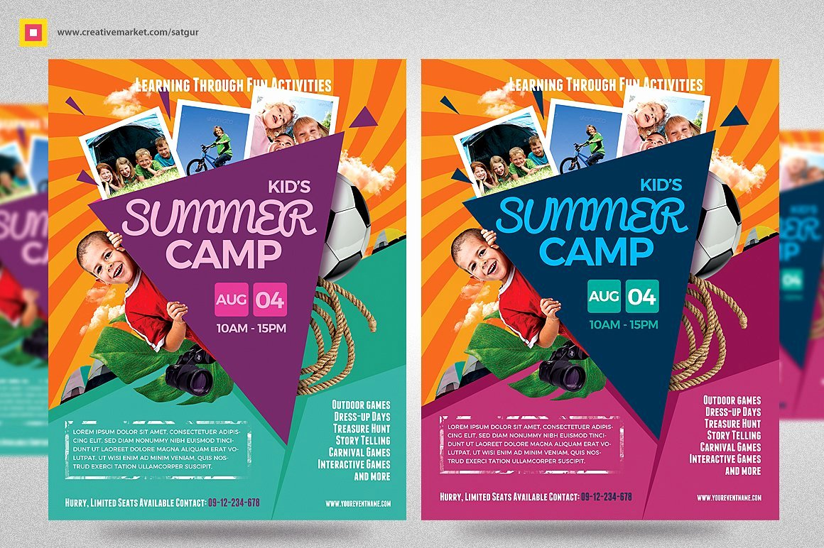 Summer Camp Flyer Template Beautiful 7 Summer Camp Flyer Designs
