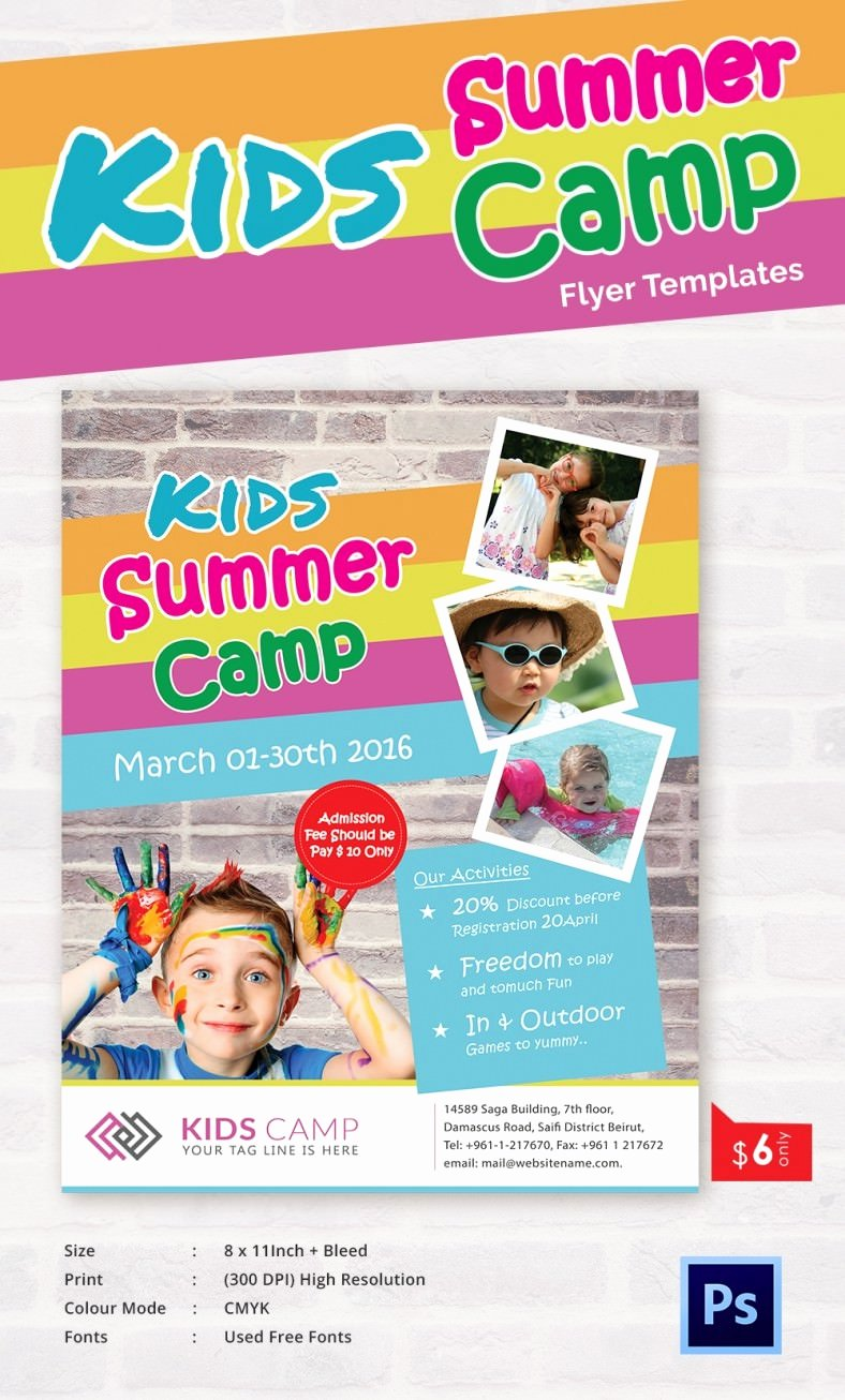 Summer Camp Flyer Template Best Of Summer Camp Flyer Templates – 47 Free Jpg Psd Esi