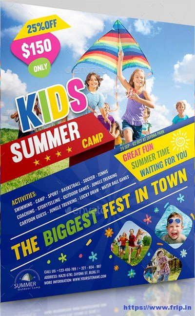 Summer Camp Flyer Template Inspirational 50 Best Kids Summer Camp Flyer Print Templates 2019