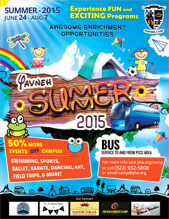 Summer Camp Flyer Template Lovely 17 Summer Camp Flyer Templates Word Psd Ai Eps Vector