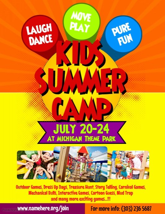 Summer Camp Flyer Template Lovely Kids Summer Camp Flyer Template
