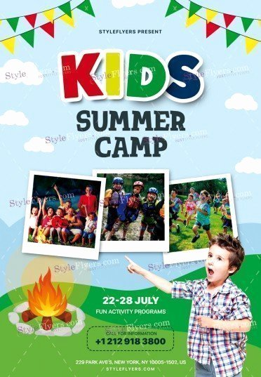 Summer Camp Flyer Template Lovely Kids Summer Camp Psd Flyer Template Styleflyers