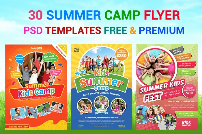 Summer Camp Flyer Template Luxury 30 Summer Camp Flyer Psd Templates Free & Premium Designyep