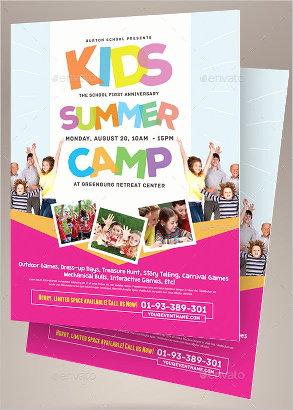 Summer Camp Flyer Template New 51 Summer Camp Flyer Templates Psd Eps Indesign Word