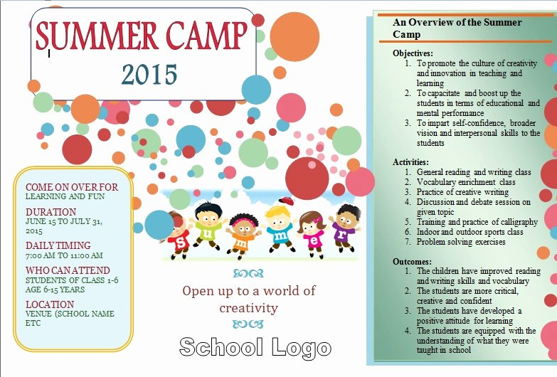 Summer Camp Schedules Template Awesome 27 Of Summer Camp Activity Schedule Template