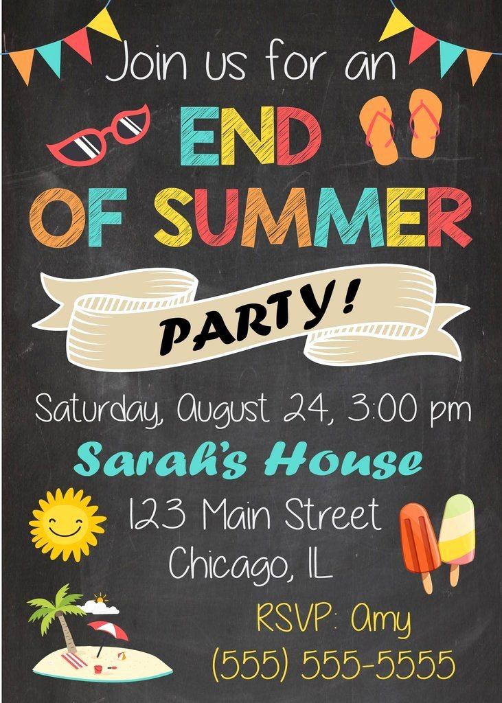 Summer Party Invitation Template Awesome Best 25 Summer Party Invites Ideas On Pinterest