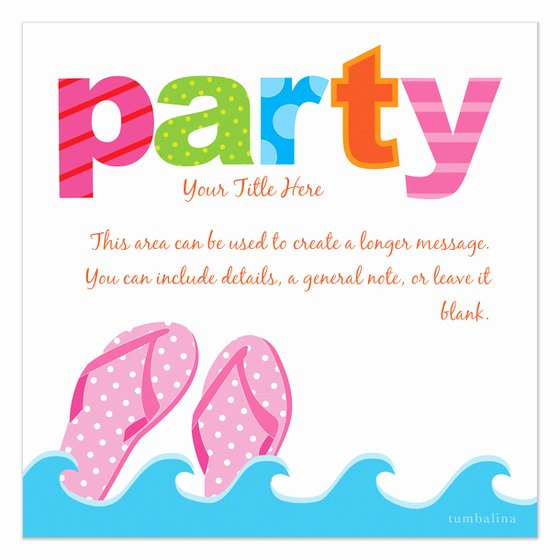 Summer Party Invitation Template Awesome Colorful Summer Party Invitations & Cards On Pingg