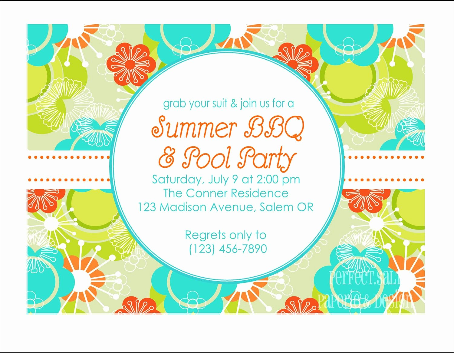 Summer Party Invitation Template Awesome Printable Summer Party Invitation Pool Party