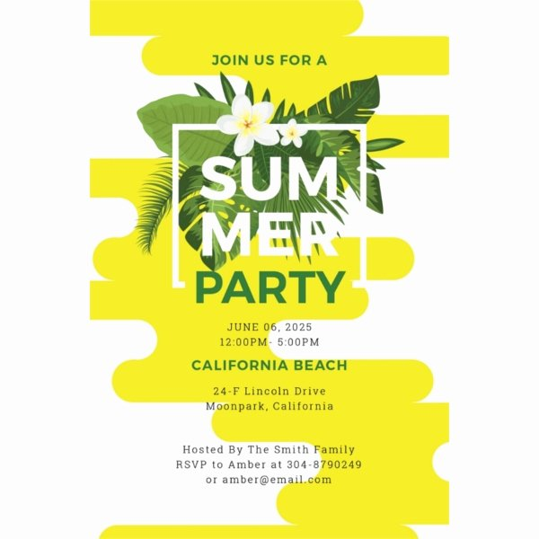 Summer Party Invitation Template Best Of 15 Summer Party Invitations Free Editable Psd Ai