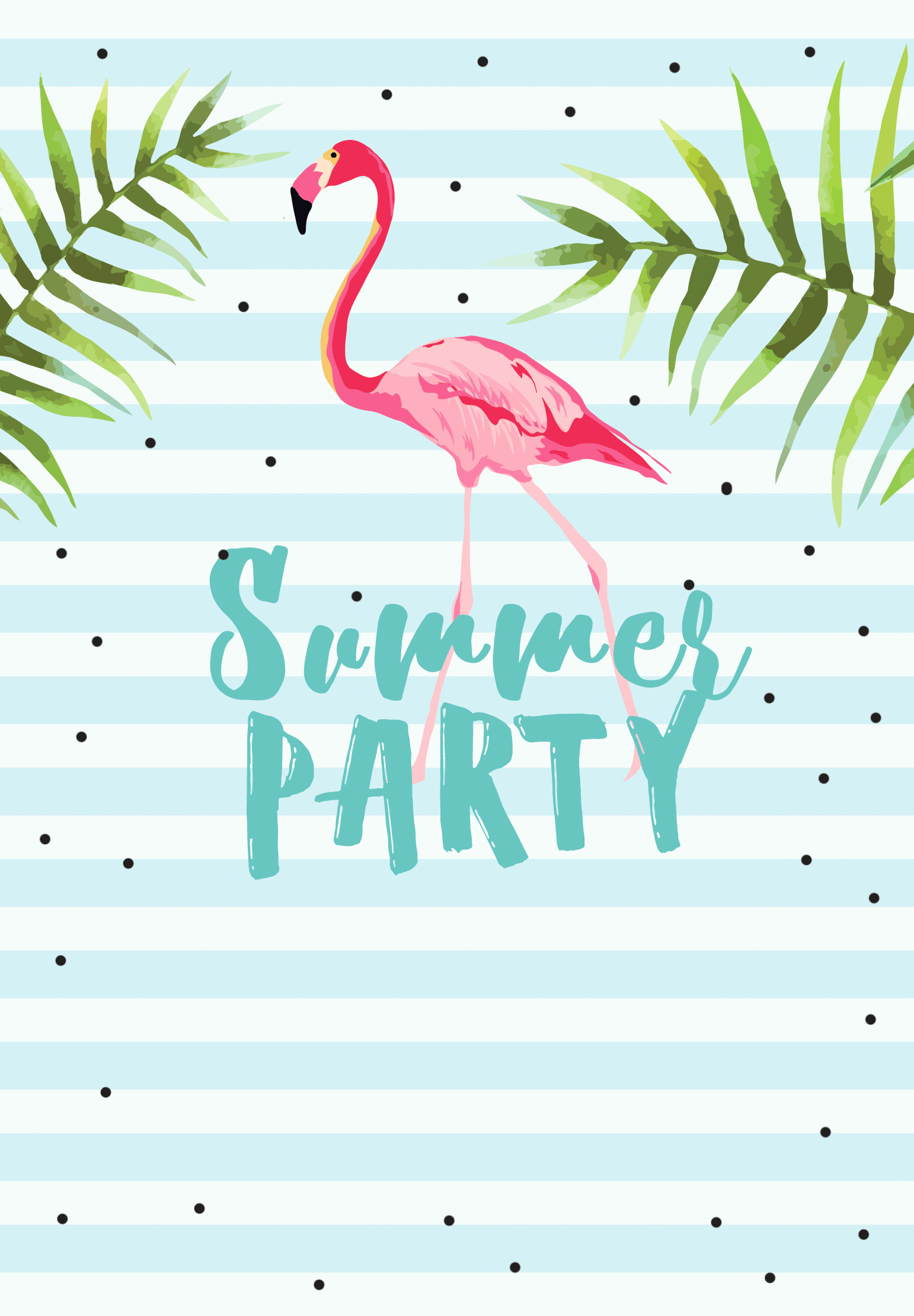 Summer Party Invitation Template Fresh Chill with Flamingo Free Printable Summer Party