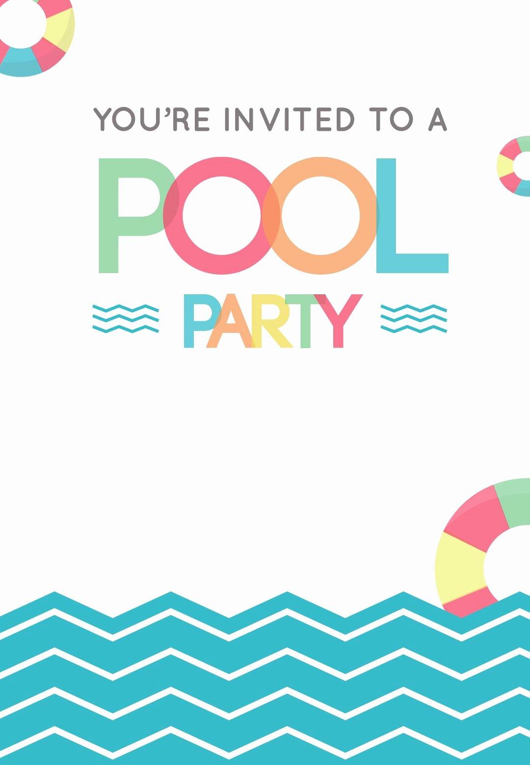Summer Party Invitation Template Fresh Fun afternoon Free Printable Summer Party Invitation
