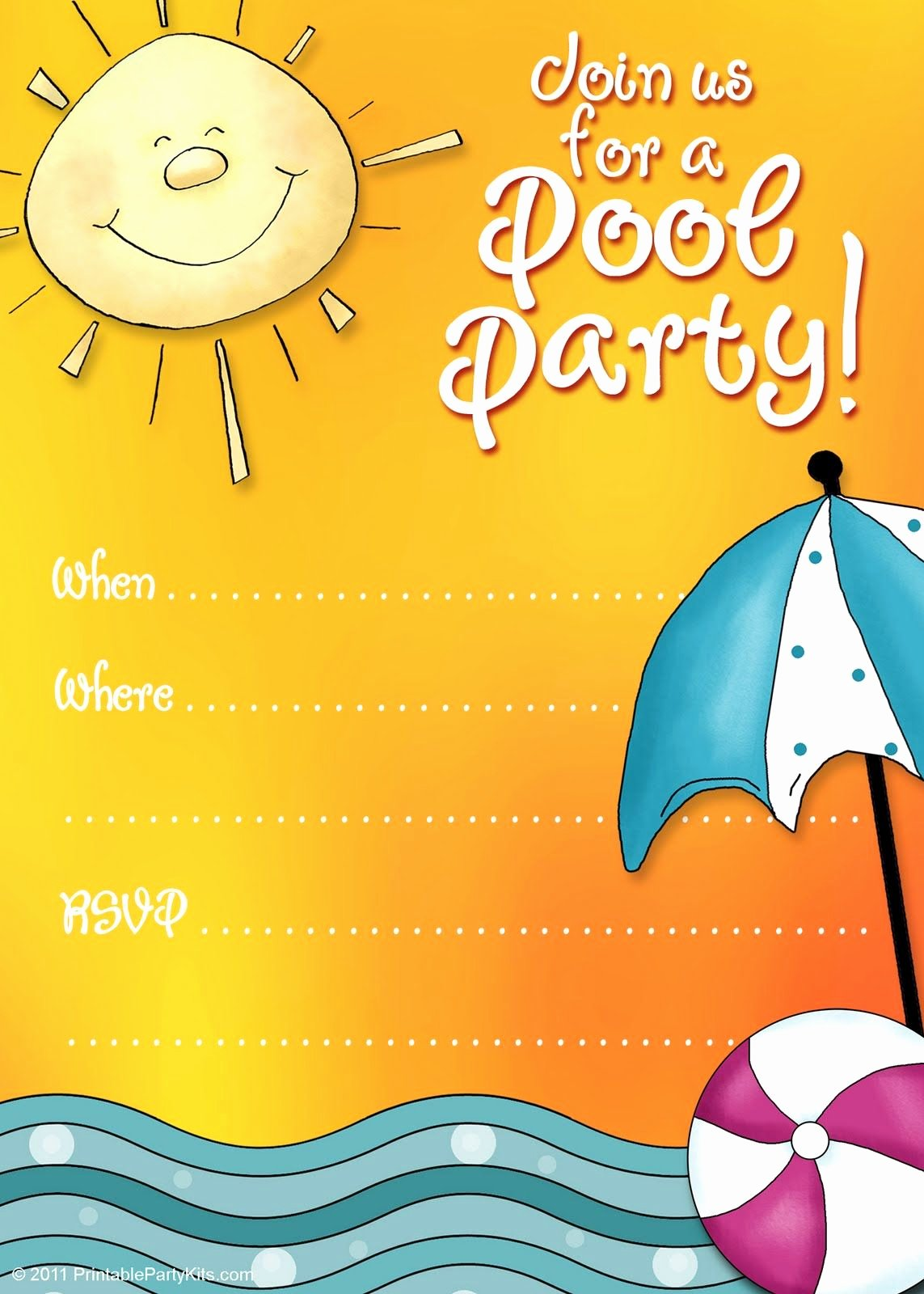 Summer Party Invitation Template Lovely Free Printable Party Invitations Summer Pool Party