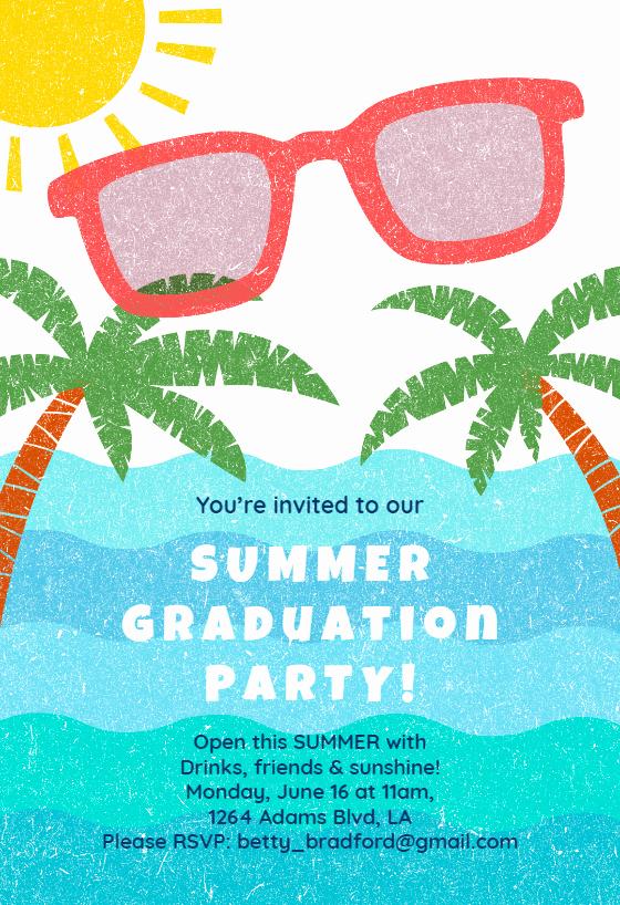 Summer Party Invitation Template Luxury Summer Graduation Party Free Graduation Party Invitation