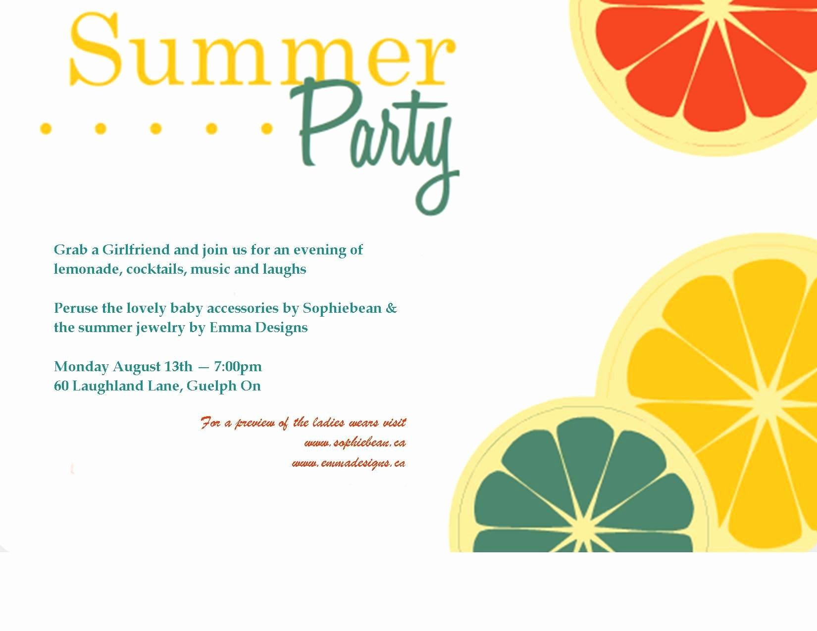 Summer Party Invitation Template Unique Birthday Invitation Party Invitation Template Superb