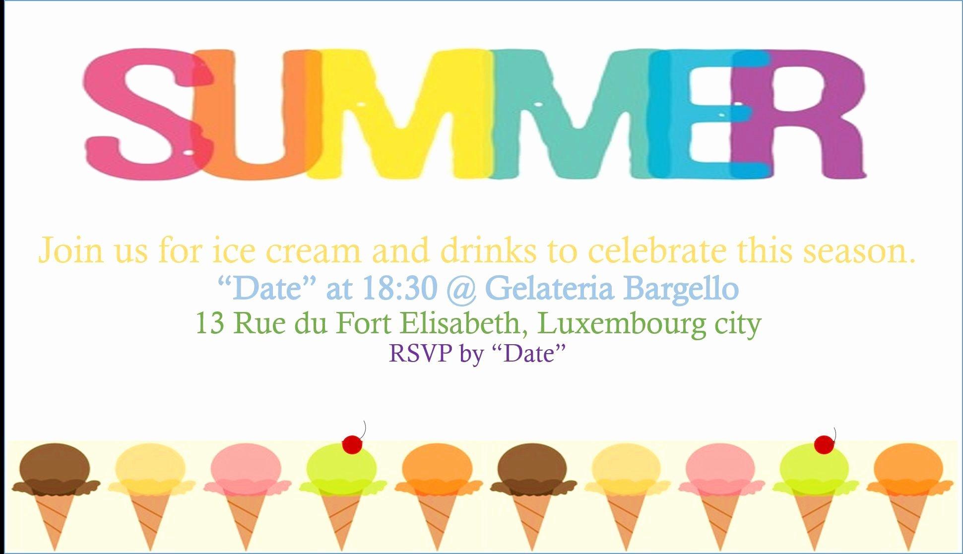 Summer Party Invitation Template Unique Summer Party Invitations Summer Party Invitations Ideas