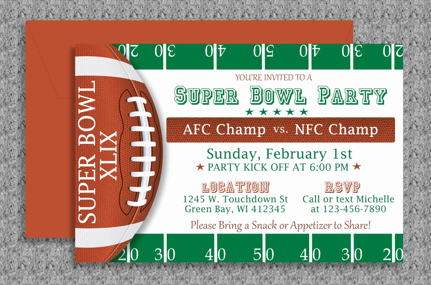 Superbowl Party Invitation Template Awesome Super Bowl Invitation Editable Template by Mydiydesigns On