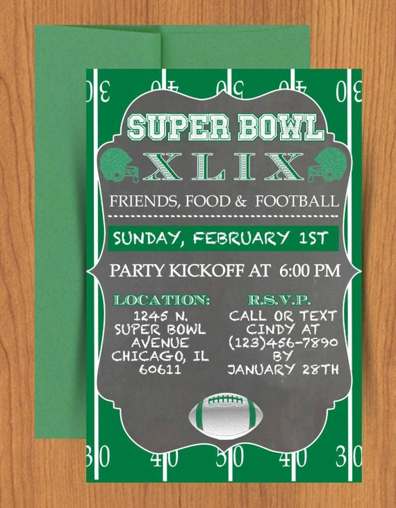 Superbowl Party Invitation Template Beautiful Chalkboard Super Bowl Invitation Editable by Mydiydesigns