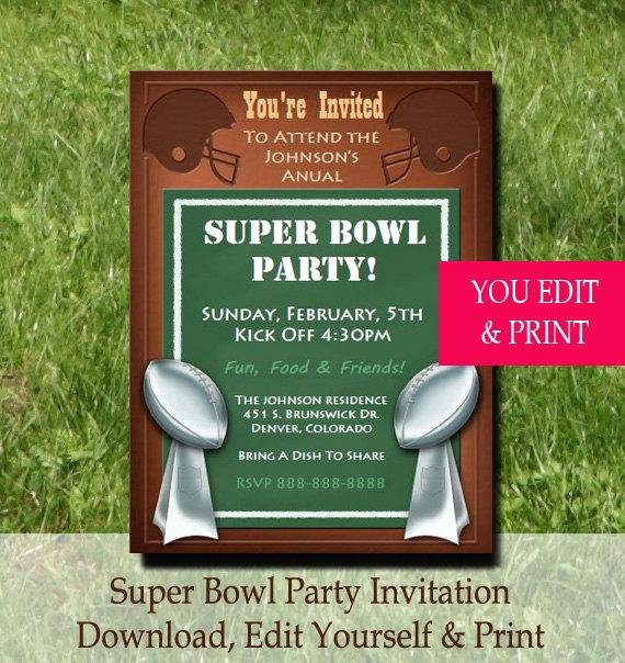 Superbowl Party Invitation Template Beautiful Super Bowl Party Invitation Super Bowl Invitation Football