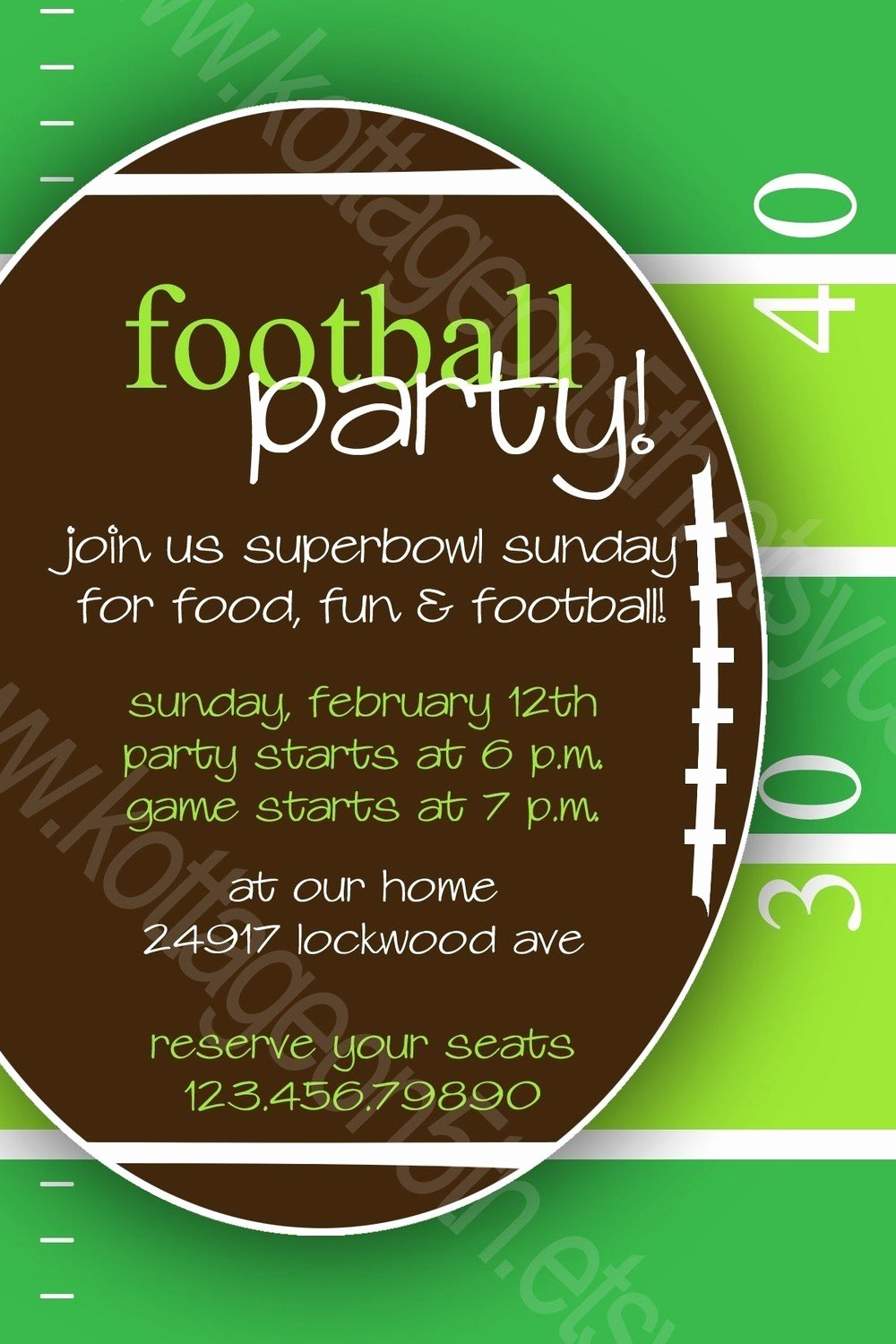 Superbowl Party Invitation Template Best Of Super Bowl Party Invitation Template