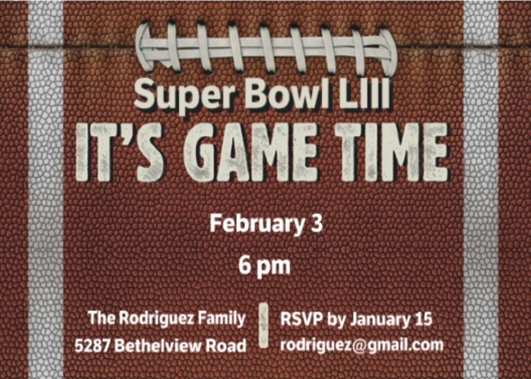 Superbowl Party Invitation Template Best Of Super Bowl Party Invitations 2018 Football
