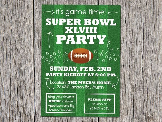 Superbowl Party Invitation Template Elegant Super Bowl Football Party Invitation events by Vento