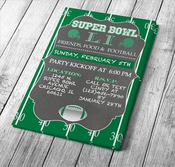 Superbowl Party Invitation Template Fresh 25 Invitation Templates