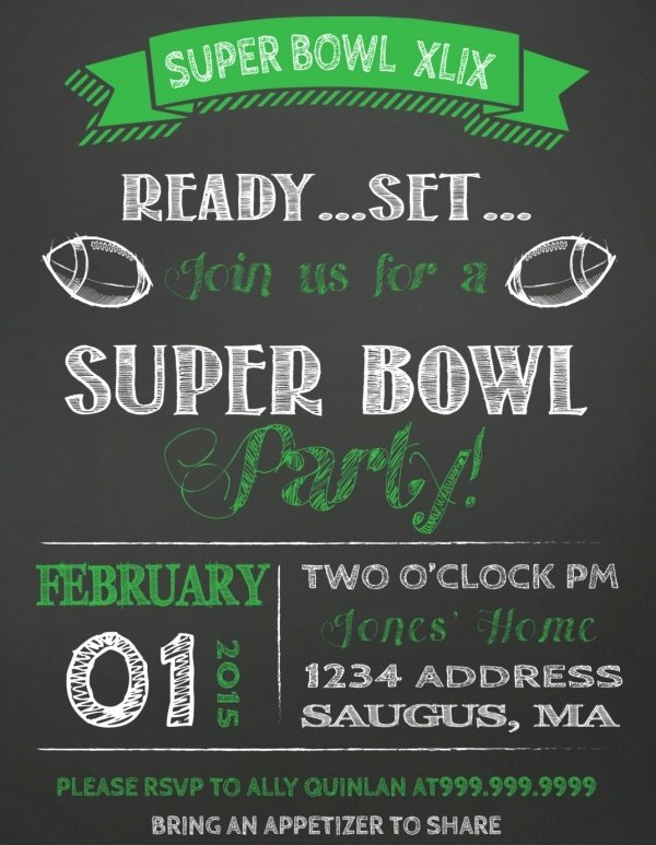 Superbowl Party Invitation Template Lovely 21 Super Bowl Invitation Designs Psd Vector Eps Jpg