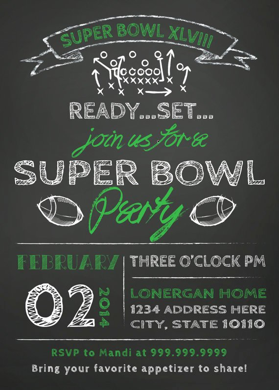 Superbowl Party Invitation Template Lovely Super Bowl Super Stars Food fort & Style – Hooker