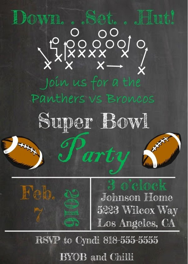 Superbowl Party Invitation Template New 21 Super Bowl Invitation Designs Psd Vector Eps Jpg