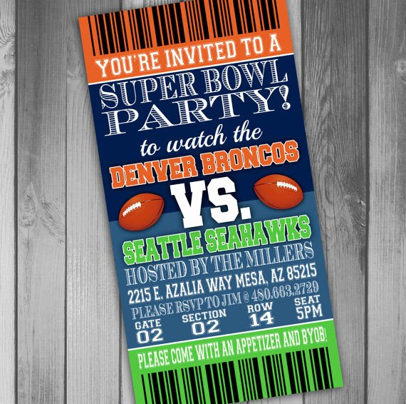 Superbowl Party Invitation Template New Custom Big Game Invititations Super Bowl Party Invitations